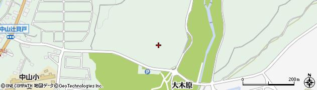 愛知県豊田市西中山町(大木原)周辺の地図