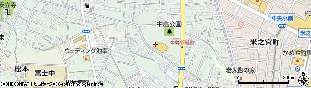 静岡県富士市中島周辺の地図