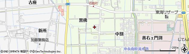 愛知県津島市百島町(黒佛)周辺の地図