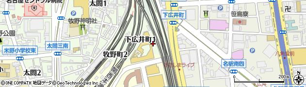 愛知県名古屋市中村区下広井町周辺の地図