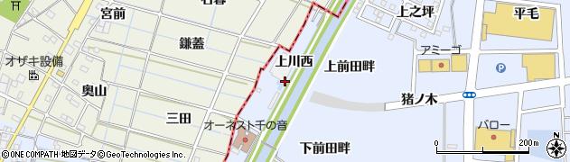愛知県名古屋市中川区富田町大字千音寺(上川西)周辺の地図