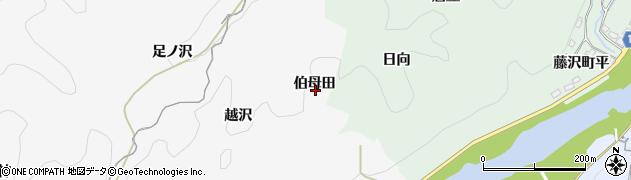 愛知県豊田市富田町(伯母田)周辺の地図