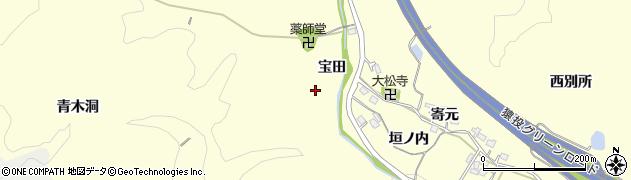 愛知県豊田市加納町(宝田)周辺の地図