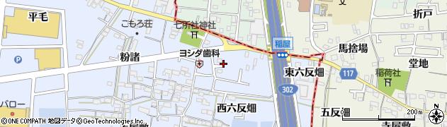 愛知県名古屋市中川区富田町大字千音寺(稲屋)周辺の地図