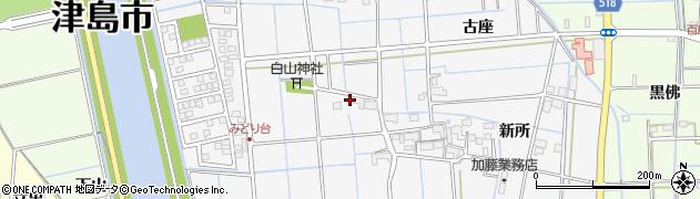 愛知県津島市百町(北古農)周辺の地図