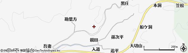 愛知県豊田市中立町(親田)周辺の地図