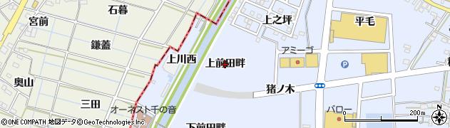 愛知県名古屋市中川区富田町大字千音寺(上前田畔)周辺の地図