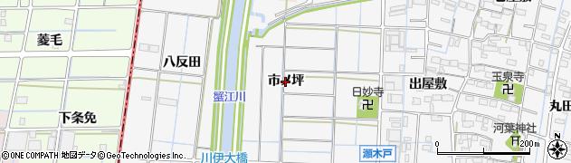 愛知県あま市七宝町川部(市ノ坪)周辺の地図