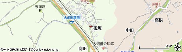 愛知県豊田市大畑町(硯坂)周辺の地図