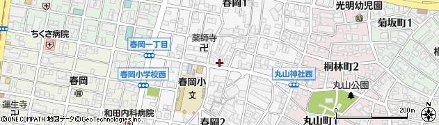 愛知県名古屋市千種区春岡周辺の地図
