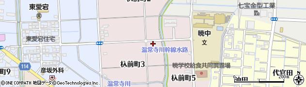 愛知県津島市杁前町周辺の地図