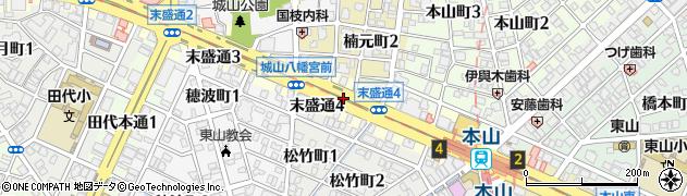 愛知県名古屋市千種区末盛通周辺の地図