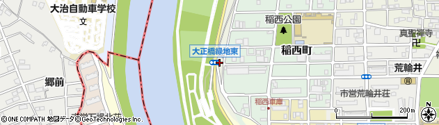 愛知県名古屋市中村区稲葉地町(頓振)周辺の地図