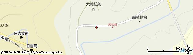 京都府南丹市日吉町田原(西畑)周辺の地図