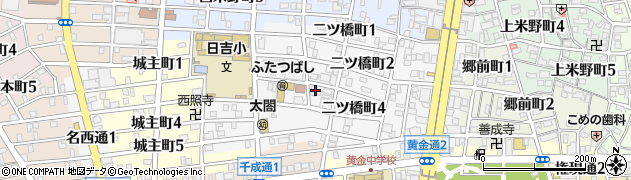 愛知県名古屋市中村区二ツ橋町周辺の地図