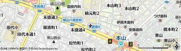城寿司周辺の地図