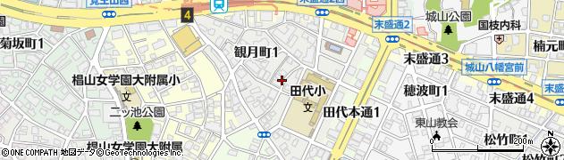 愛知県名古屋市千種区観月町周辺の地図