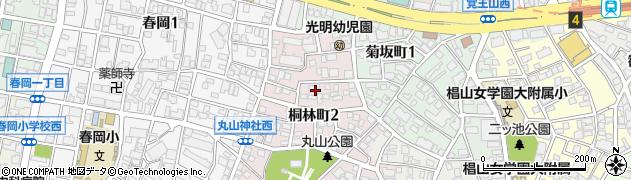 愛知県名古屋市千種区桐林町周辺の地図