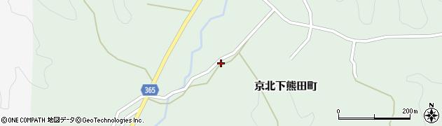 京都府京都市右京区京北下熊田町(妙見谷)周辺の地図