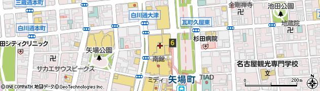 松坂屋名古屋店 営業3部本館9Fレストラン街銀座天一周辺の地図