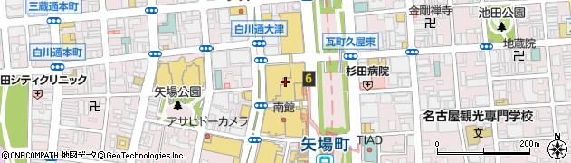 松坂屋名古屋店 食品部本館9F レストラン街 みそ煮込みうどん山本屋総本家周辺の地図