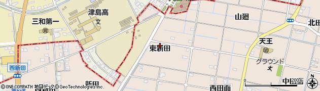 愛知県愛西市内佐屋町(東新田)周辺の地図