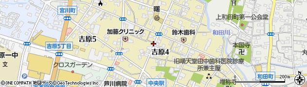 静岡県富士市吉原周辺の地図