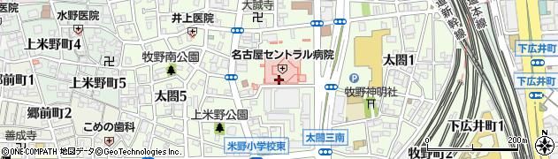 愛知県名古屋市中村区太閤周辺の地図