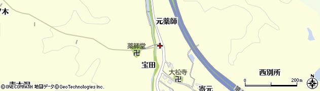 愛知県豊田市加納町(元薬師)周辺の地図