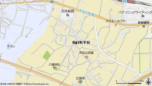〒669-4133 兵庫県丹波市春日町平松の地図