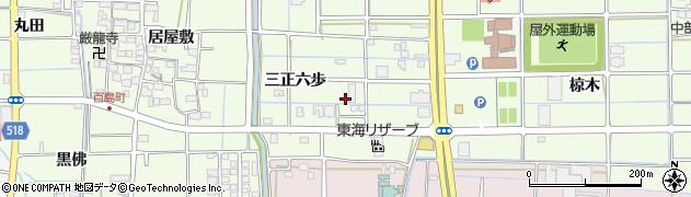 愛知県津島市百島町(三正六歩)周辺の地図