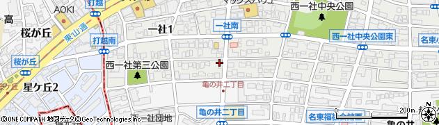 花かご周辺の地図