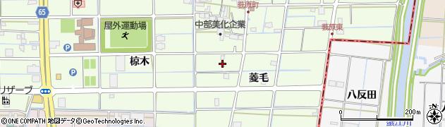 愛知県津島市莪原町(菱毛)周辺の地図