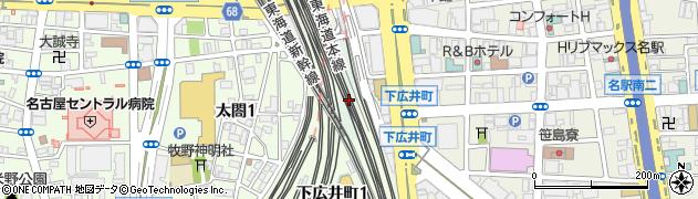 愛知県名古屋市中村区笹島町周辺の地図
