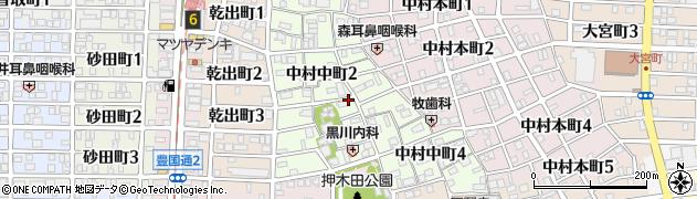 愛知県名古屋市中村区中村中町周辺の地図