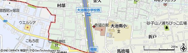 愛知県大治町(海部郡)砂子(西河原)周辺の地図