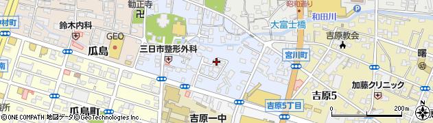 静岡県富士市浅間本町周辺の地図