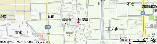 愛知県津島市百島町(居屋敷)周辺の地図
