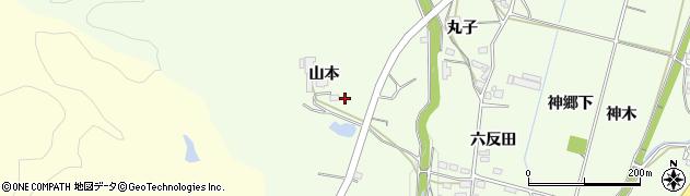 愛知県豊田市猿投町(山本)周辺の地図