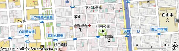 寅八 女子大小路店周辺の地図