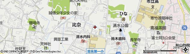 静岡県富士市比奈周辺の地図