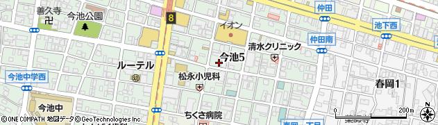 キャバレー花園今池店周辺の地図