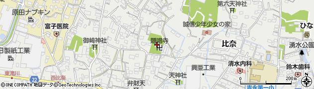 題唱寺周辺の地図