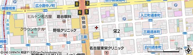 ベトコンラーメン新京名古屋伏見店周辺の地図