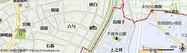 愛知県あま市七宝町桂(東山)周辺の地図