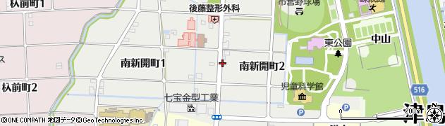 愛知県津島市南新開町周辺の地図
