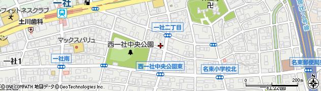 愛知県名古屋市名東区一社周辺の地図