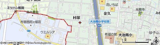愛知県大治町(海部郡)三本木(村部)周辺の地図