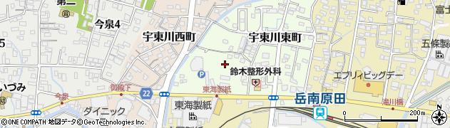 静岡県富士市宇東川東町周辺の地図
