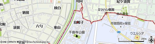 愛知県名古屋市中川区富田町大字千音寺(烏帽子)周辺の地図